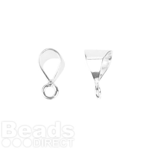 Sterling Silver 925 Small Loop Bail with Ring 5x9mm Pk1