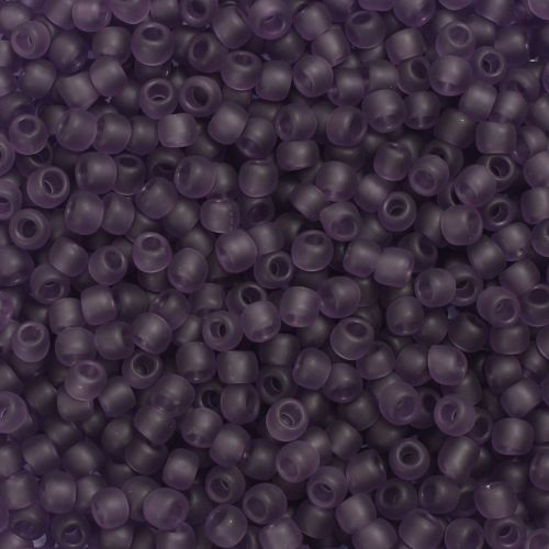 Toho Size 6 Round Seed Beads Transparent Frosted Sugar Plum 10g