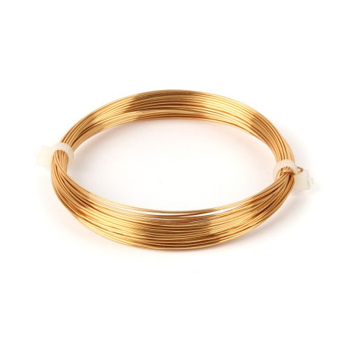 X-Gold Coloured Copper Wire 0.6mm 10metre Coil