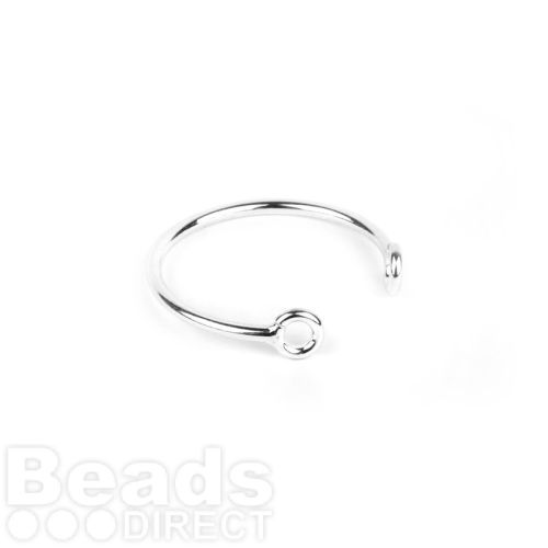 Sterling Silver 925 2 Hole Ring Base 18mm Pk1