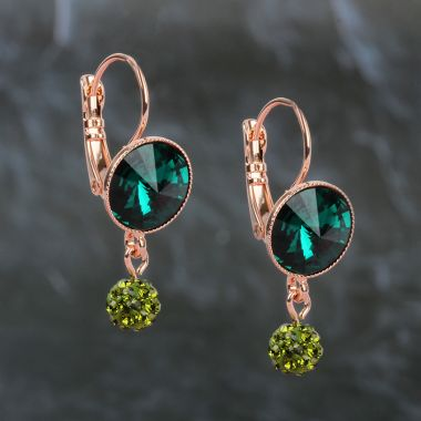 Emerald Sparkle Earrings