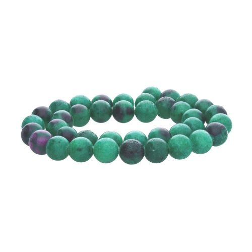 Zoisite with ruby (synthetic) / round / 4mm / 86pcs