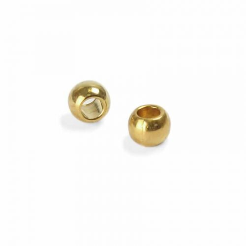 X Gold Plated Seamless Round Beads 2mm Pk100