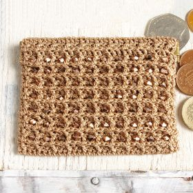 Rose Gold Crochet Coin Purse Kit by Dorothy Wood