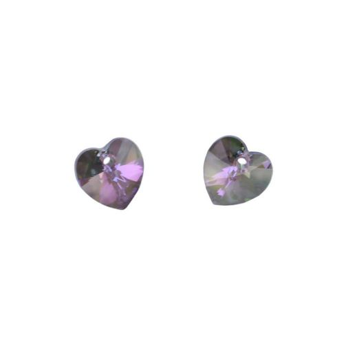 6228 Swarovski Crystal Hearts 10mm Crystal Paradise Shine Pk2