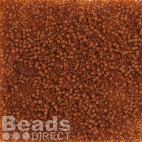 Miyuki Delica Size 11 Beads Transparent Matte Rootbeer 5g