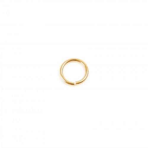 Gold Plated Jump Rings 5mm 0.7mm Thick Pk50