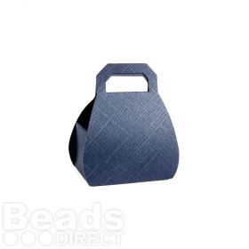 Navy Blue Handbag Style Gift Box 65x80mm Pk1