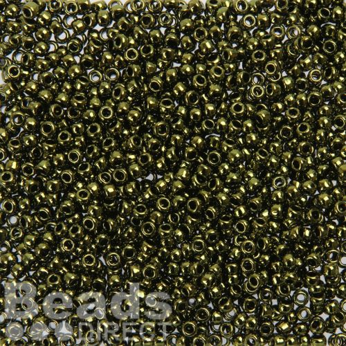 Toho Size 8 Round Seed Beads Gold-Luster Dark Chocolate Brown 10g