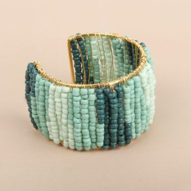 Ombré Beaded Bangle