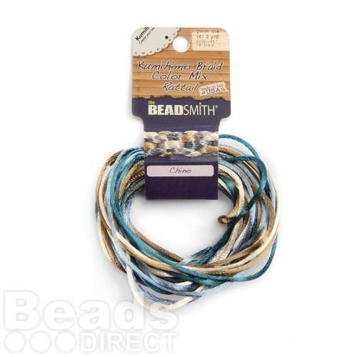 Rattail Chino 2mm 4 Colours 4x3yds