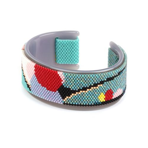 Beads Direct Riverside Toho Aiko Silver Cuff Kit
