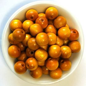 Preciosa Wood Beads 10mm Yellow/Orange Pk50