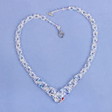 Graduated Crystal Bicone Necklace