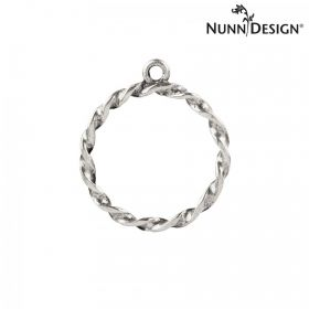 Nunn Design Antique Silver Charm Rope Circle 23mm Pk1