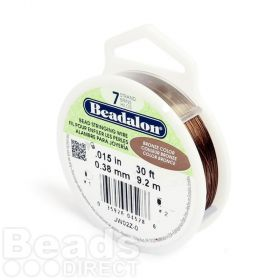 Beadalon 7 Strand Flexible Beading Wire 'Bronze' 0.015in 30ft