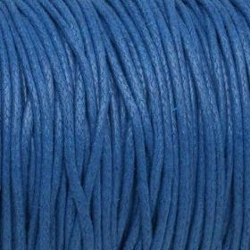 Waxed cord / 1.5mm / navy blue / 1m