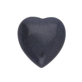 Night Cairo (synthetic) / cabochon / heart / 23x25x6mm / 1pcs