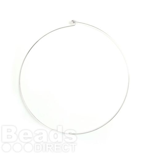 Silver Plated Choker with Screwable End Ball Pk1