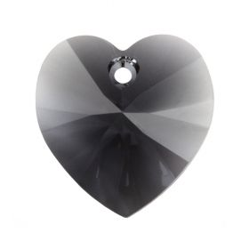 6228 Swarovski Crystal Heart 17.5x18mm Graphite Pk1