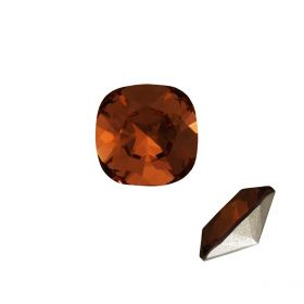 4470 Swarovski Crystal Square Fancy Stone 12mm Smoked Topaz F Pk1