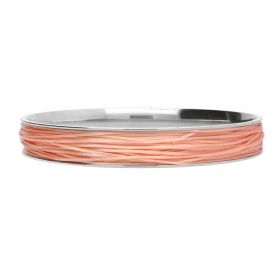 Elastoma / jewellery elastic / 0.5x0.8mm / salmon / 5m