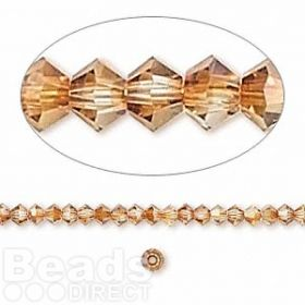 5328 Swarovski Crystal Bicones Xillion 3mm Crystal Copper Pk24
