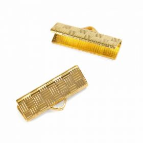 Cord ends gold-plated 5x20mm. Pk 10