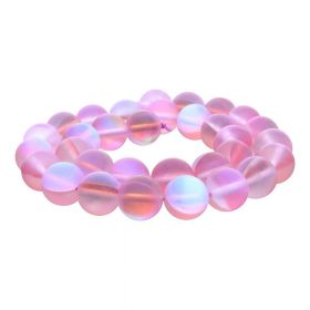 Cubic Zirconia (synthetic) / matte / round / 6mm / light pink / 64pcs
