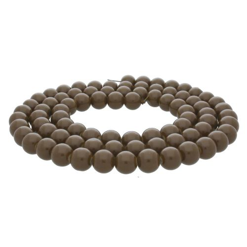 Coated beads / round / 12mm / brown / 70pcs