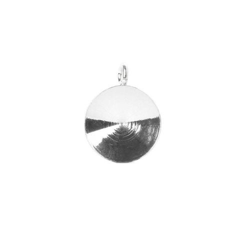 """X"" Sterling Silver 925 10.5mm Rivoli Charm Base Pk1"