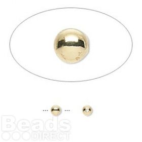 Gold Plated Seamless Round Beads 3mm Pk100