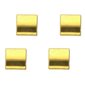 Hematite / natural stone / rectangle with 2 holes / 5x5x2mm / gold / hole 0.7mm / 10pcs