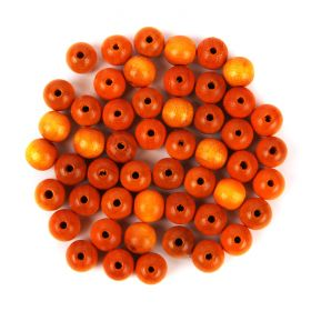 Preciosa Wood Beads 10mm Yellow Pk50