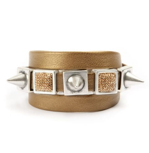 Rebel Radiance Gold Sparkle Bracelet