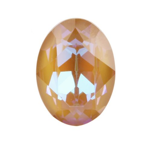 4120 Swarovski Crystal 13x18mm Oval Fancy Stone Crystal Ochre DeLite Pk1