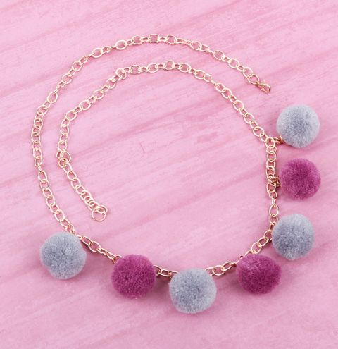 Summer Pudding Pom Pom Necklace