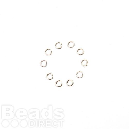 X-Sterling Silver 925 Jumprings 0.84x4mm Pk10