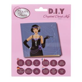 Beads Direct 'Art Deco Lady' Crystal Card Kit