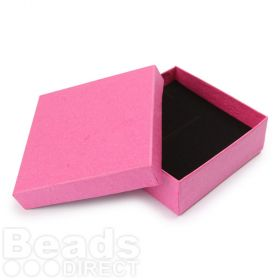 Pink Square Jewellery Box 9x9x3cm with Foam Pad Pk1