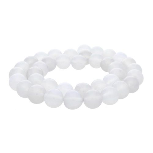 White agate / round / 10mm / 36pcs