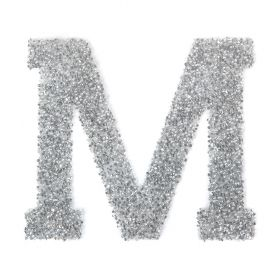 Swarovski Crystal Letter 'M' Self-Adhesive Fabric-It Transparent CAL Pk1