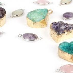 Semi-Precious Charms and Pendants