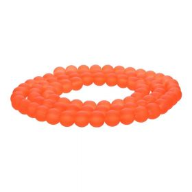 Frozen ™ / round / 8mm / dark orange / 105pcs
