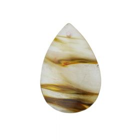 Tiger quartz / pendant / drop / 55x35x6.5mm / 1pcs