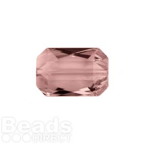 5515 Swarovski Crystal Emerald Cut 12.5x18mm Blush Rose Pk1