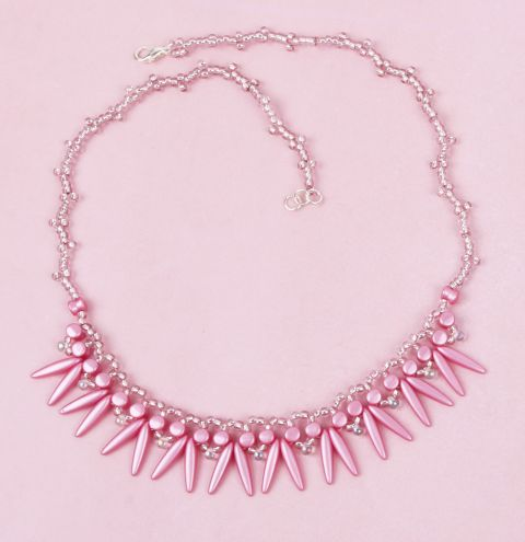 Pink Shaggy Necklace