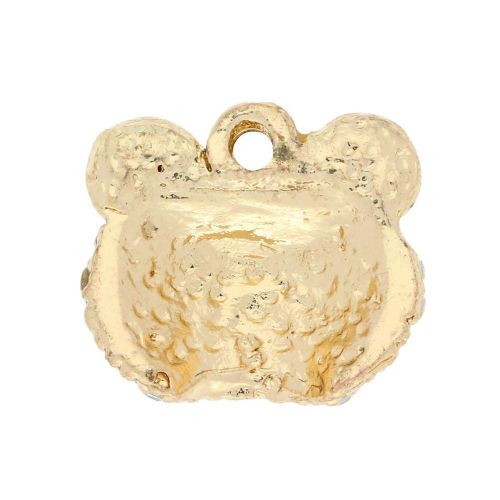 Glamm ™ Frog / charm pendant / with zircons / 13x15x5mm / gold plated / Crystal / 1pcs