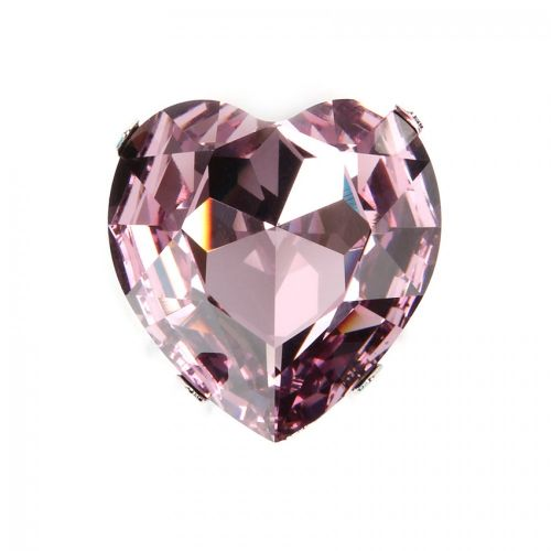 4827 Swarovski Crystal Heart & Setting 28mm Light Amethyst F Pk1