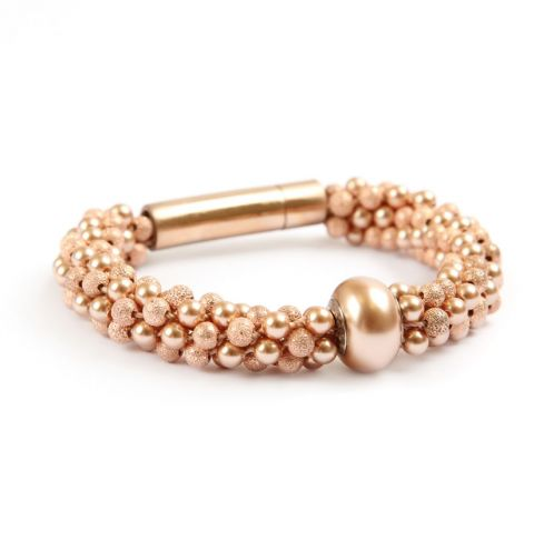 d65f733fb3a3 Tutorial on how to make this Becharmed Rose Gold bracelet with other ...